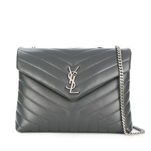 YSL LOULOU Medium Grey Bag